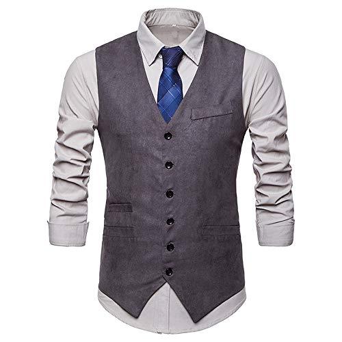 D'affaires Gilet Hiver Manteau De Veste Gris2 Hommes Haut Automne Costume Magiyard Formelle Tuxedo O1Rg1a