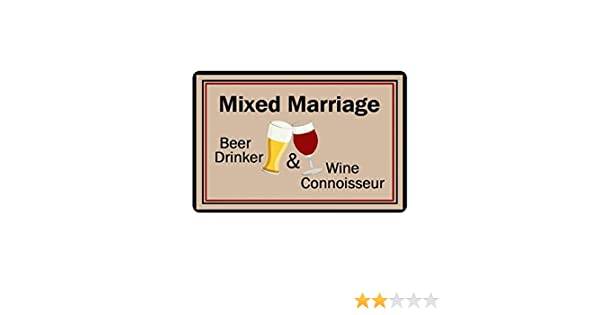 Mixed Marriage Beer Drinker /& Wine Connoisseur Clearance Doormat Door mat