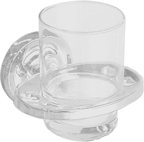 Taymor 04-W7905 Maxwell Series Toothbrush and Tumbler Holder, White