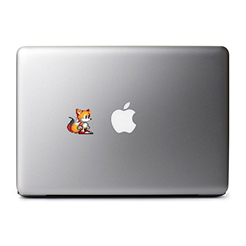 Retro 8-Bit Tails (Pose) Decal from Sonic the Hedgehog 8 Bit Decal for MacBook, iPad Mini, iPhone 5S, Samsung Galaxy S3 S4, Nexus, HTC One, Nokia Lumia, Blackberry]()