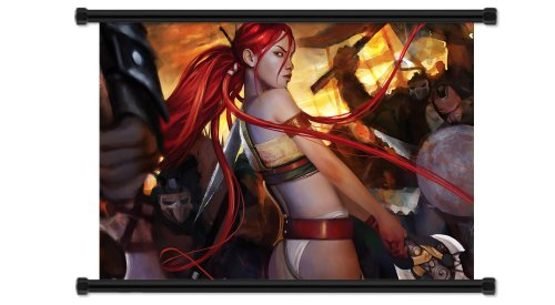 """Price comparison product image Heavenly Sword Videogame Fabric Wall Scroll Poster (32"""" x 24"""") Inches"""