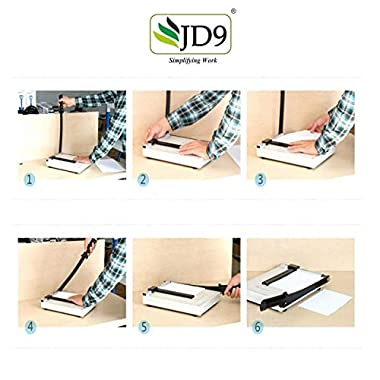 JD9 Paper Cutter A4 Heavy Duty Professional Paper Trimmer, Guillotine Craft Machine for Office, Home, Craft, Photo Studio (A4, B5, A5, B6, B7) (White, 12.5 x 9.8 x 1.2 inch) 13