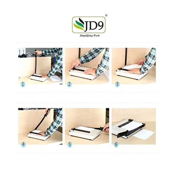 JD9 Paper Cutter A4 Heavy Duty Professional Paper Trimmer, Guillotine Craft Machine for Office, Home, Craft, Photo Studio (A4, B5, A5, B6, B7) (White, 12.5 x 9.8 x 1.2 inch) 6