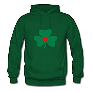 Popular Designed Green Women ۞»♥vector Lucky Shamrock With A Heart♥«۞ Unofficial Sweatshirts X-large