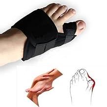 1 Pair Big Toe Bunion Relief Splint Straightener Corrector Hallux Valgus Relief Foot Pain Protector (M)