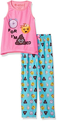 Emoji Little Girls Pajamas
