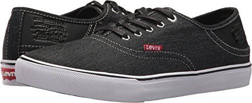 Levi's Men's Monterey Denim Sneaker, Black, 9 M US