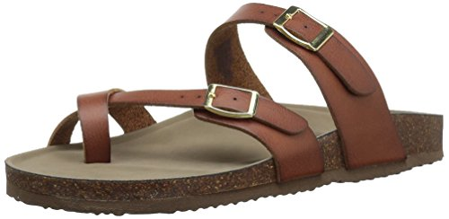 (Madden Girl Women's Bryceee Toe Ring Sandal, Cognac Paris, 11 M US)