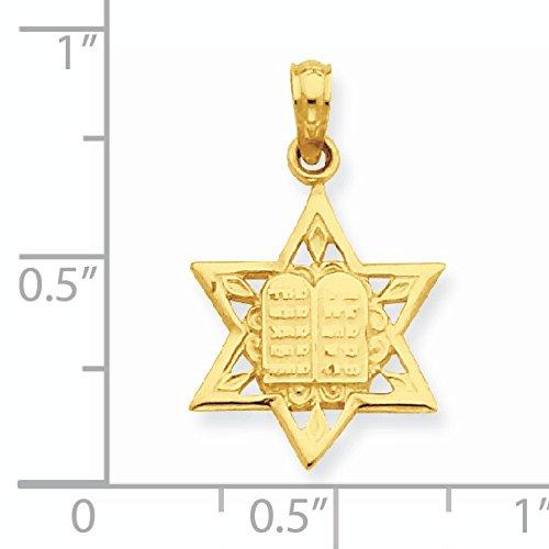 14 carats avec pendentif étoile de David comprimés JewelryWeb CENTRAL