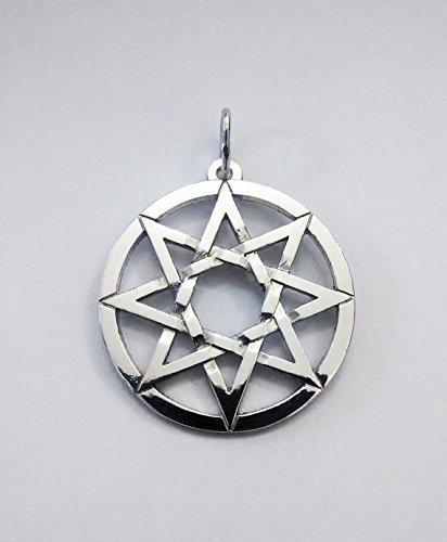 Silver Pendant 8 Pointed Star Octagram Pendant Eight Pointed Star Pendant Handmade by SilverRingshandmade