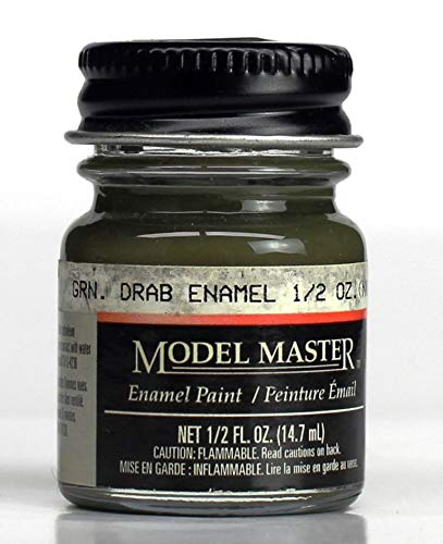 - Model Master Testors Green Drab Enamel Paint 0.5 oz Bottle #1787