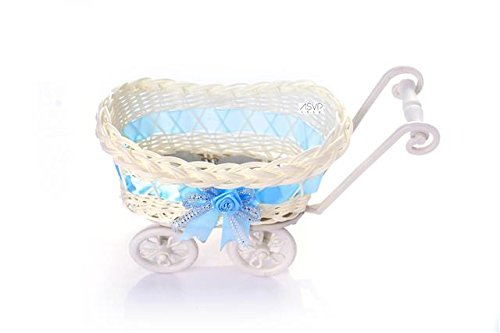 ASVP Shop Baby Pram Small Hamper Wicker Basket Baby Shower Party Baby Gift