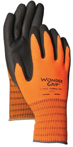 Insulated Boss Rubber Glove - Wonder Grip WG520S Insulated Knit Extra Tough Work Gloves Textured Double-Coated Nitrile Palm, Small Small