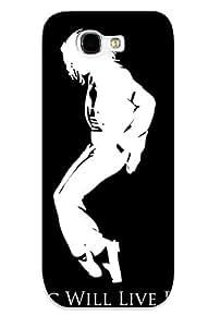 Galaxy Note 2 Michael Jackson Tribute Print High Quality Tpu Gel Frame Case Cover