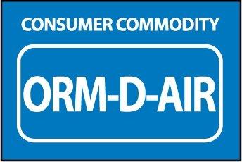 NMC HW33AL 1.5'' x 2.5'' Pressure Sensitive Paper Hazardous Waste Container Label w/Legend: ''Consumer Commodity Orm-D-Air'', 8 Rolls of 500 pcs by National Marker
