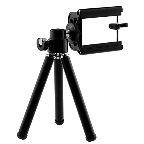 ONX3 (White + Tripod Holder) Universal Clip-on 8x Zoom Optical Telescope Manual Focus Phone Camera Lens and 360 Rotatable Mini Tripod Stand Holder for LG K8 (2017) by ONX3® (Image #5)