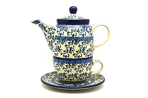 Polish Pottery Tea Time for One - Terrace Vines