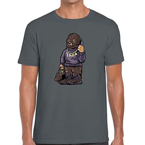 Street Wear Fashion Running T Shirt Matching Yeezy Boost Mauve 700 Trap Bear Charcoal XX-Large