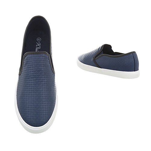Wd1615b Da Blu Pantofole Ital design Scuro Donna STwwPaYqWf