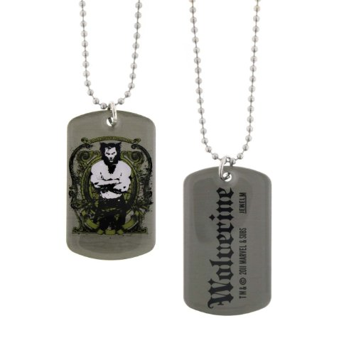Jewel M New Series Marvel Comics Wolverine Dogtags Dog Tag Double-Sided -