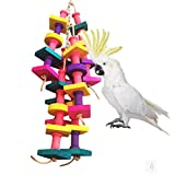 Natural Wood Bird Chew Toy for Large Parrot Conure Macaw African Grey Amazon Cockatoo Budgies Parakeet Cockatiel Lovebird Cage