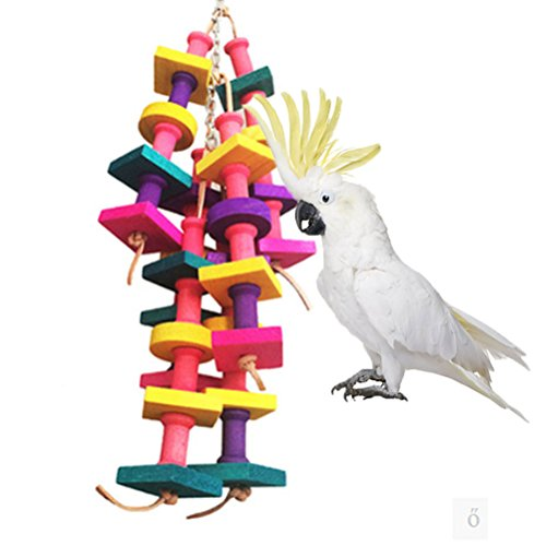 (Natural Wood Bird Chew Toy for Large Parrot Conure Macaw African Grey Amazon Cockatoo Budgies Parakeet Cockatiel Lovebird Cage)