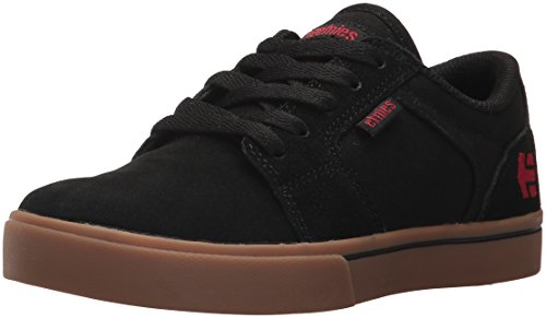 Etnies Unisex Barge LS Skate Shoe, Black/Gum, 2c Medium US Big Kid - Etnies Sheckler Youth Shoes