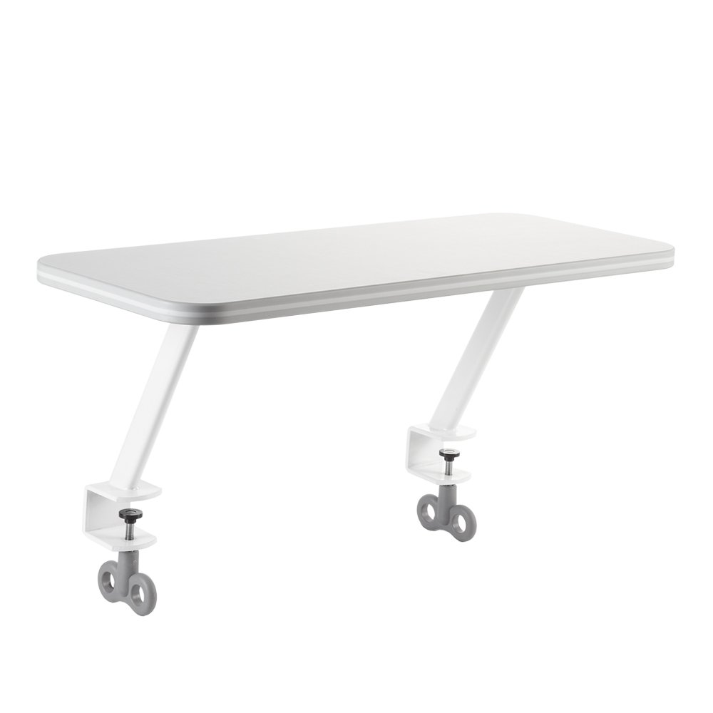 TCT Nanotec Kid 2 Youth Attachable Side Shelf for Ergonomic Desks, White