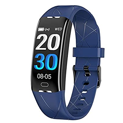 RUIXFWA Fitness Tracker Smartwatch Waterproof Fitness Wristband with Heart Rate Monitor Color Monitor Activity Tracker Pedometer Estimated Price £39.99 -