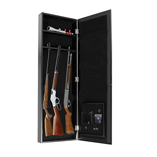 Gun Cabinet Armoire Hidden In The Wall Mirror Rifle and Pistol Safe Valentine's Day Gift (Holds 35.5