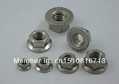 MAO YEYE 50pcs Metric M6 304 Stainless Steel Hex Head Flange Nuts