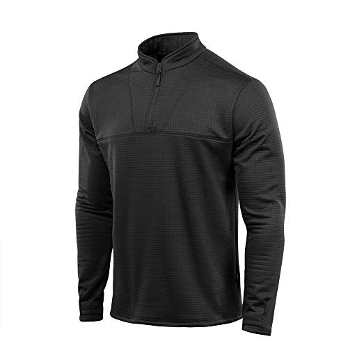 Delta Level 2 Mens Top Thermal Underwear for Men Fleece Lined Compression Shirt (Black, XXXL)