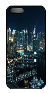Amazing Dubai Marina PC Case Cover for iPhone 5 and iPhone 5s Black