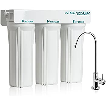 APEC WFS 1000 Super Capacity Premium Quality 3 Stage Under Sink Water Filter  System