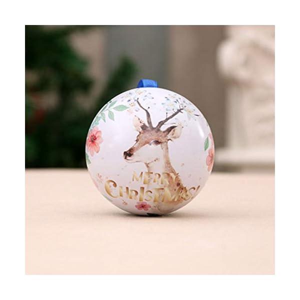 Amasawa 6 Pezzi Palle di Natale, Decorazioni per Alberi di Natale, Decorazioni Natalizie,Candy Can, 2,7 Pollici / 7 cm Tema dell'albero di Natale 5 spesavip