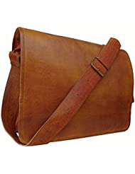 Cuero 16 Leather Shoulder Messenger Satchel Laptop Leather Messenger Bag For Men And Women