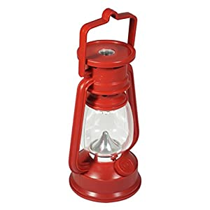 SE FL807 15R 15 LED Red Hurricane Lantern with Dimmer Switch