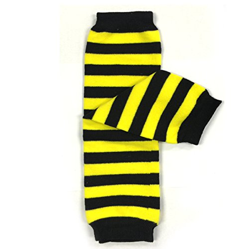 Wrapables Animals and Fun Colorful Baby Leg Warmers, Stripes Black & ()