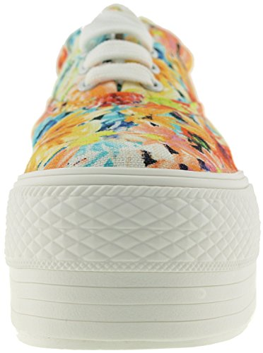 Maxstar C50, 5-Loch, Low-Top-Sneakers Freizeit Platform Boot Yellow Blossom