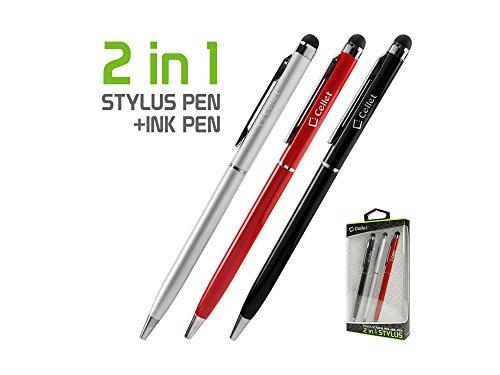 [해외]Razer [전화 2] 셀 재료 컴팩트 알루미늄 2 in 1 스타일러스 펜으로 양극 산화 처리 완료 [3 팩 보너스]-실버 레드 & 검정 (3 조 각 콤보 팩) / Razer [Phone 2] Cell-Stuff Compact Aluminum 2 in 1 Stylus Pens with Anodized Finish [ 3 Pack Bon...