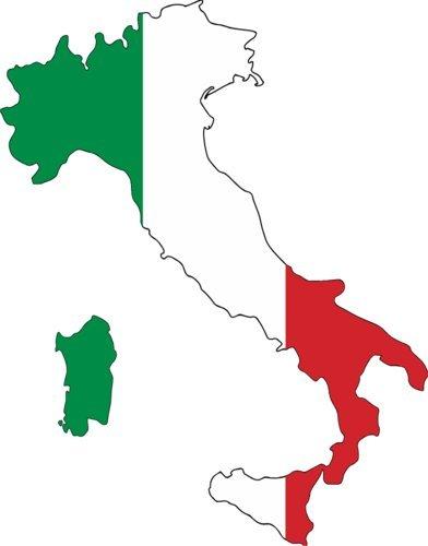 Bumper Heritage Sticker - WickedGoodz Italian Flag Vinyl Decal Transfer - Italy Bumper Sticker - Perfect Heritage Gift