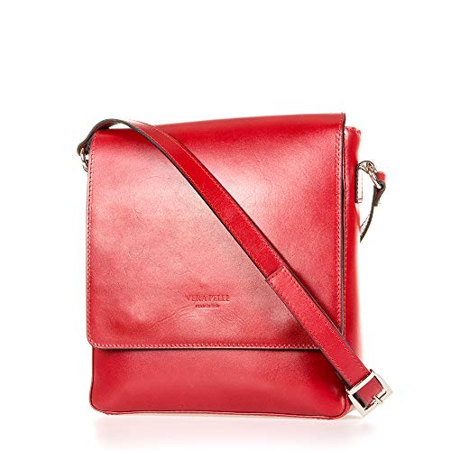 Rouge Made Italy 25x26x6 Véritable In Sac Cm En Unisexe 5 Cuir Professionnel fxwqXHxPR