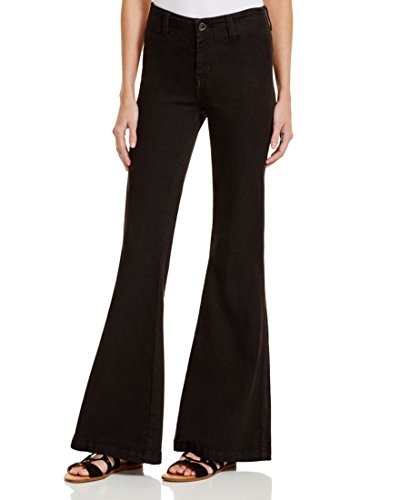 Free People Womens Jolene Stretch High Rise Flare Jeans Black 25 by Free People