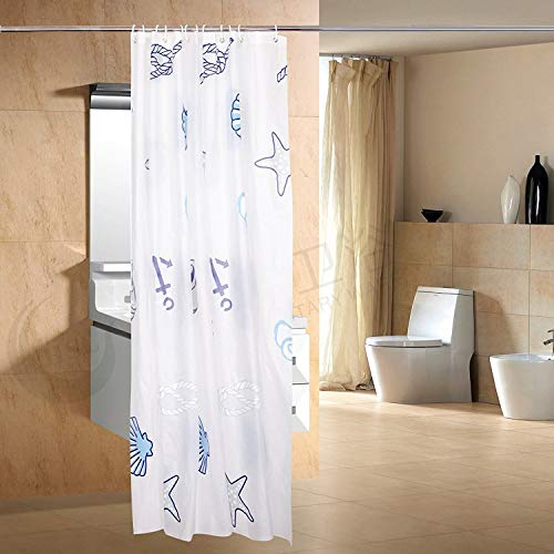 Shower Curtain Liner with 12 Curtain Hooks Clea...