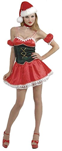 Forum Novelties Women's Santa's Little Ho Ho Ho Costume, Red/White, X-Small/Small (Santa Little Helper Costumes)