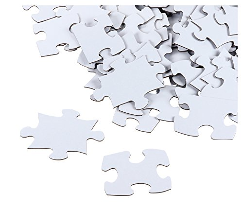 Blank Puzzle - 100-Piece Wedding Guest Book Puzzle, White Jigsaw Puzzles for DIY, Kids Color-in Crafts Projects, 27 x 36 -