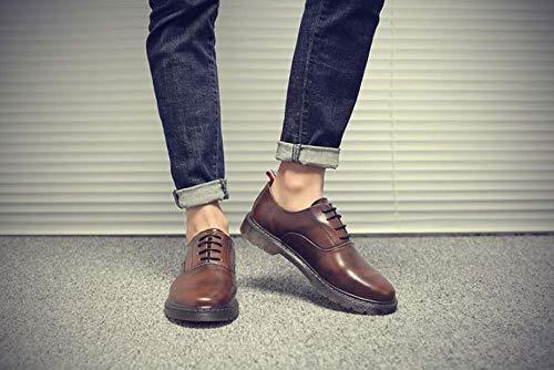 Punk Nero Uomo Nero Scarpe EU Brown Style 40 Stringate SqrBnxSw1