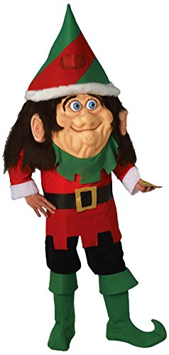Forum Novelties Men's Parade Pleasers Santa's Elf Big Head Costume, Multi, -