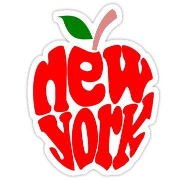 (Big Apple New York - Sticker Graphic Bumper Window Sicker Decal - State Love Sticker )