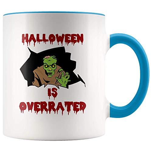 (Halloween Is Overrated Mug Gift Coffee Tea Ceramic White Mugs 11)